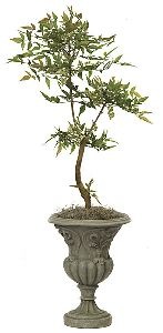 Artificial Topiary Trees, Ball Topiary, 39 inch Mountain Ash Topiary